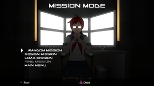 Mission Mode main menu