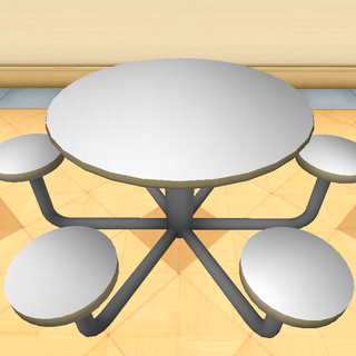 A cafeteria table.