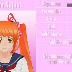Osana's profile if the JSON file is edited. October 16th, 2016.