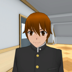 Juku without his headband.