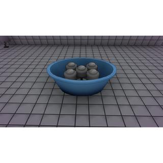 Halteres dentro de um balde