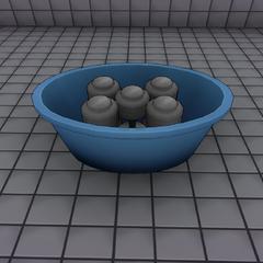 啞鈴在水桶裡