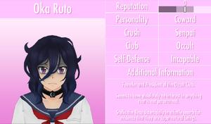 6-1-2016 Oka Ruto Profile