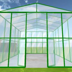 The greenhouse's interior.