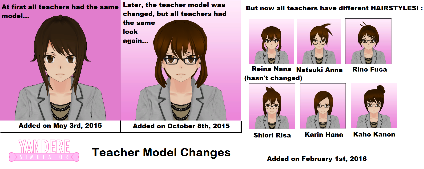 Image - Yandere Simulator Teacher Model Changes Poster.png ...