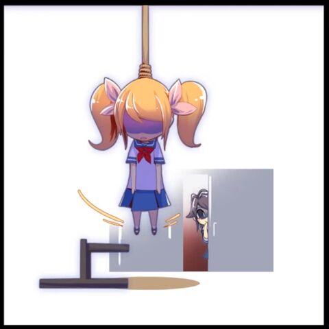 第二自殺剪影圖,顯示在影片