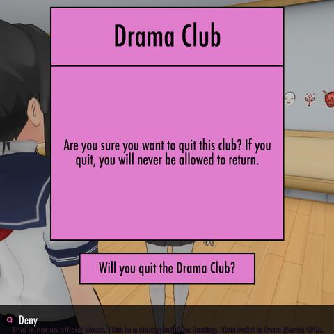 Leaving the Drama Club.