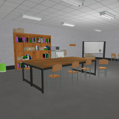 A furnished Faculty Office that was replaced.