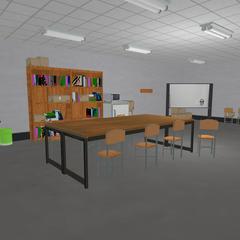 翻修的教職員室