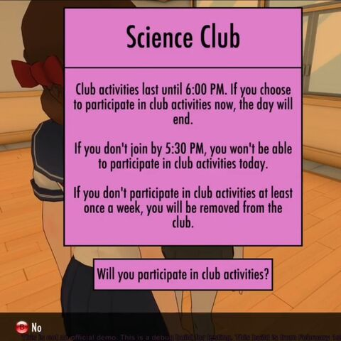 About to participate in the Science Club activity.