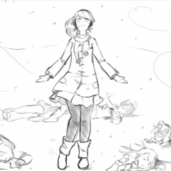 Yandere-chan with several corpses in <a rel=