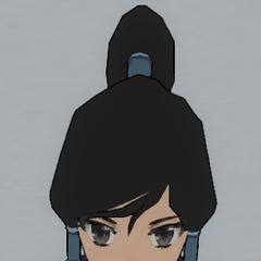 Korra's hair.