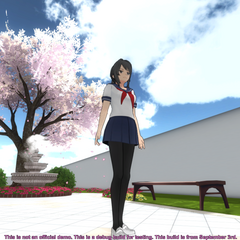 A preview of the new plaza in YandereDev's blog post