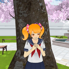 Rival-chan placing her arms on her chest.