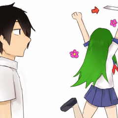 Midori celebrates her club being joinable, allowing YandereDev to notice her knife.