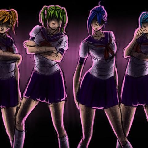 Uma ilustração de Yuna e as rainbow six mostrado em <a rel=