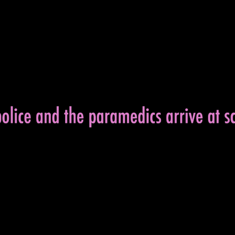 The paramedics arrive at school. March 31st, 2016.