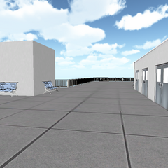 Outdated school rooftop.
