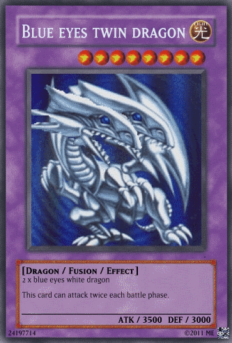 Blue Eyes Twin Dragon Yu Gi Oh Card Maker Wiki Fandom