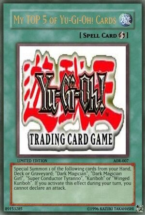 My TOP 5 Yu-Gi-Oh! Cards
