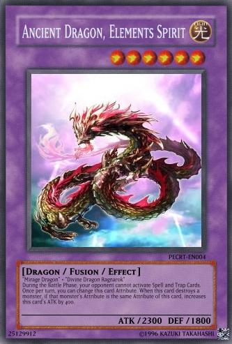 Ancient Dragon, Elements Spirit | Yu-Gi-Oh Card Maker Wiki ... Element Dragon Yugioh