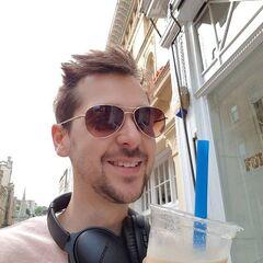 Lewis drinking taro bubble tea 2017.