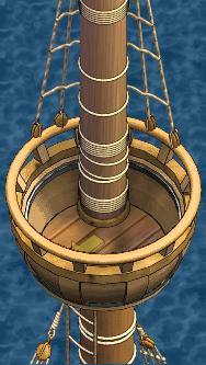 War frigate Main Crow's Nest