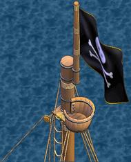 War frigate Fore Crow's Nest