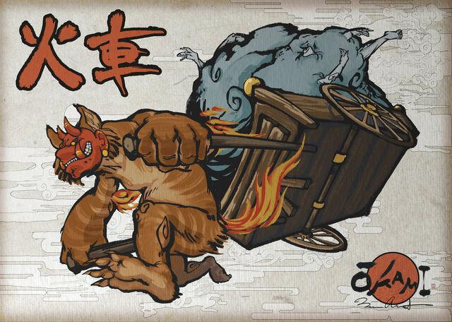 File:New challenger fiery youkai warlord kasha by dreamkillertora-d5rue51.jpg
