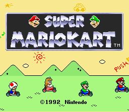 File:Super Mario Kart - Title Screen.png