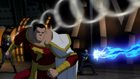 File:Black Canary, Captain Marvel and Black Lightning take on Savage.png