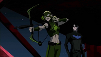 Nightwing and Artemis on the lookout