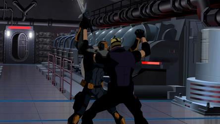 File:Deathstroke fights Sportsmaster.png