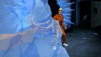 Superboy sees Miss Martian frozen