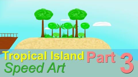 Tropical Island Part 3 Happy Wheels Speed Art Ep. 19