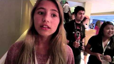 Eddie Smith Interviews Lia Marie Johnson from Kids React at VidCon 2011