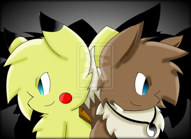 File:Neon the pikachu and harold the eevee body swaped by zander the riolu-d5ltwog.jpg
