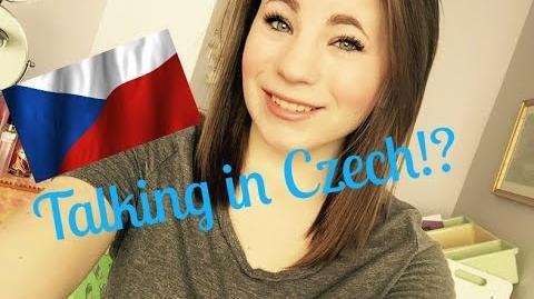 Talking in Czech American speaks Czech