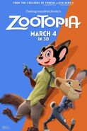 Zootopia (PaddingtonandFernRockz Style) Poster