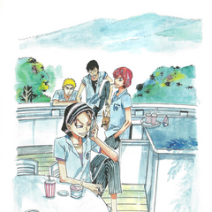Toudou with Hakone Academy's third-years.