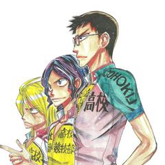 Teshima with Aoyagi and Koga.