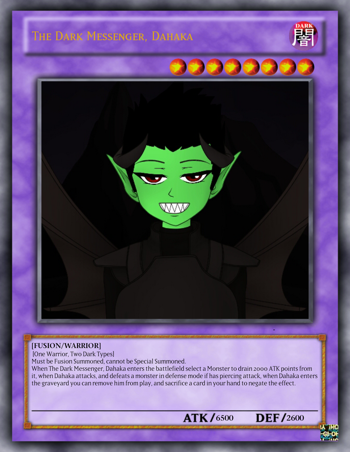 the dark messenger dahaka yu gi oh fanon wiki fandom powered