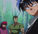 Els tres lladres: Hiei, Kurama i Goki