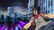 Ep006 Unnamed Duelist defeated by Blue Angel