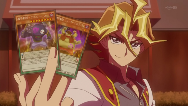 File:Arc V Silvio using his new Pendulum Cards.png