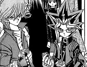 File:Dark Yugi and Jonouchi team - manga.png