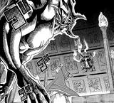 Akhenaden and Bakura's ka battle (manga)