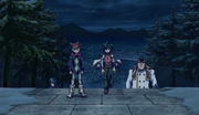 Allen Brings Yuya and The co to the Duel Lodge