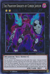 YuGiOh! TCG karta: The Phantom Knights of Cursed Javelin