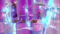 Yuma activates Swords of Burning Light